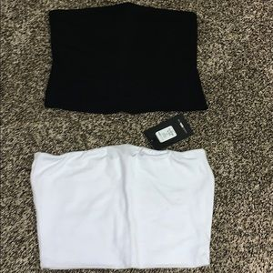 Bandeau tops. Each is $12